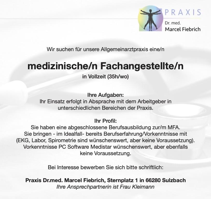 Stellenangebote MFA Fiebrich Sulzbach